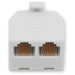 MP-110 6P4C - přímá rozdvojka do zásuvky telefon/telefon - 2