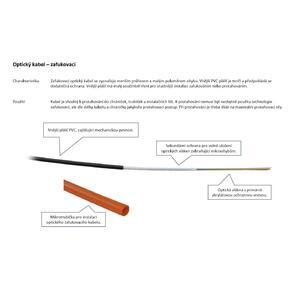 OC-SM-12 zafukovací - optický kabel, 12 vláken, 9/125, mikrokabel - 2