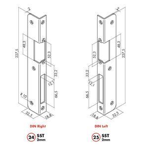 KP-DREVO-P - krycí plech dřevěné zárubně (protiplech A24X) - 2