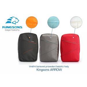 "Bag Arrow K8933W-B - šedá - 15.6"" grey backpack - 2"