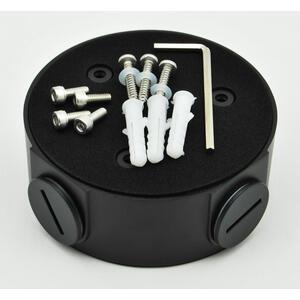 PFA13A-E-BLACK - černá - zapojovací box kulatý, černý - 2