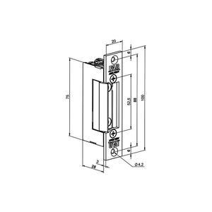 1221MB, FAB Profi - elektrický otvírač, momentový kolík, mechanická blokace, 8-12V AC/DC - 2