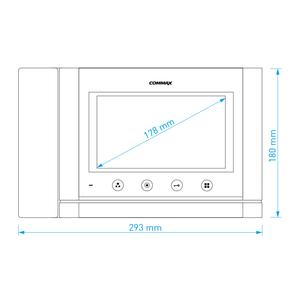 """CDV-70MHM bílý - verze 17-30Vdc - videotelefon 7"""", CVBS, se sluch., videopaměť, 2 vst. - 2"""