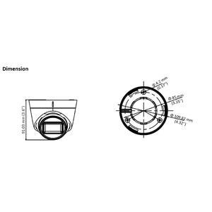 DS-2CE78H0T-IT3FS - (3.6mm) - 5 MPix; dome ball kam. 4v1; 3,6mm; EXIR 40m; mikrof. - 2