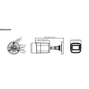 DS-2CE16D0T-ITFS - (3.6mm) - 2Mpix, 4v1 bullet kamera, 3,6mm, DWDR, EXIR 30m, mikrofon - 2