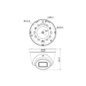 DS-2CD1H43G0-IZ(2.8-12mm) - 4 Mpx, IP dome kamera, f2.8-12mm, DWDR, EXIR 30m, H265+ - 2