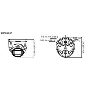 DS-2CE76H0T-ITMFS - (3.6mm) - 5Mpx, 4v1 dome ball kamera, f3.6mm, DWDR, EXIR 30m, mikrofon - 2