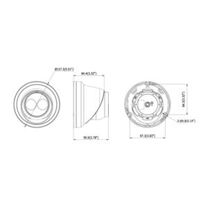 DS-2CD2345FWD-I - (BLACK)(4mm) - 4 Mpx, IP dome, f4mm, WDR, EXIR 30m, H265+, černá - 2