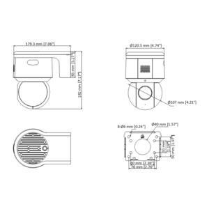 DS-2DE3A404IW-DE - 4 Mpx, venkovní PTZ, f2.8-12mm, 4x zoom, WDR, IR 50m, H265+ - 2