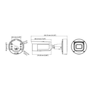 DS-2CD2685FWD-IZS(B) - (2.8-12mm)(B)(BLACK) - 8 Mpx, IP bullet kamera, f2.8-12mm, WDR, EXIR 50m, audio, alarm - 2