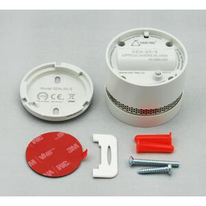 SDA-20-S - světle šedá - autonomní opticko-kouřový se sirénou - 2