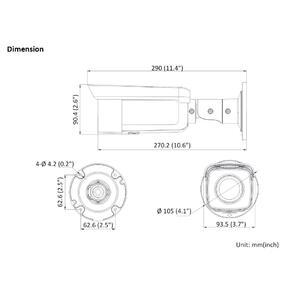 DS-2CD2T86G2-2I - (2.8mm) - 8 Mpx, IP bullet kamera, f2.8mm, WDR, EXIR 50m, AcuSense 2.generace - 2