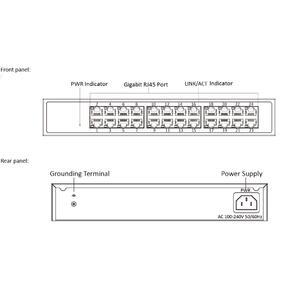 DS-3E1524-EI - switch 24 portů 1 Gbps, kovový kryt , management - 2