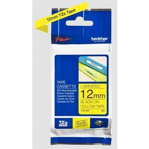 TZE-631 - kazeta s páskou - žlutá / černá, 12 mm, 8 m - 2