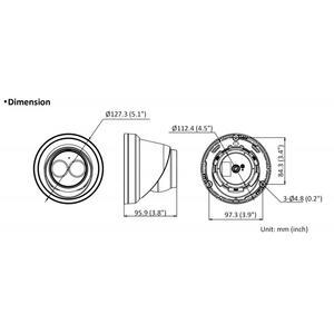 DS-2CD2343G2-I - (4mm) - 4 Mpx, IP dome kamera, f4mm, WDR, EXIR 30m, AcuSense 2.generace - 2
