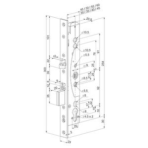 EL461/45/24 - elektromechanický samozamykací zámek - 2