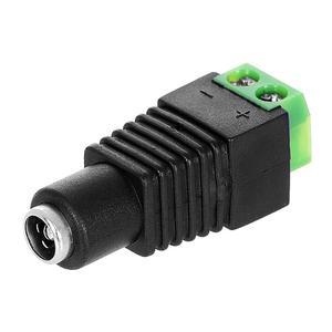 DC konektor - samice, konektor pro připojení napájení ke kameře, plastové provedení se svorkovnicí - 2
