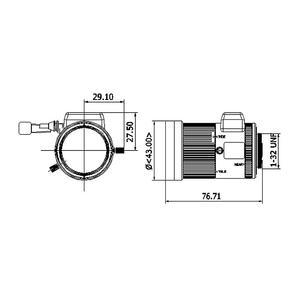 TV0550D-MPIR - MEGAPIXEL objektiv 5-50mm s aut. clonou a IR korekcí - 2