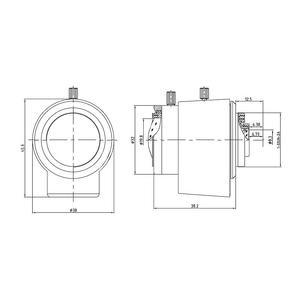 """M12VD4510IR, 1/2"""" megapixelový varifokální CS objektiv f4.5-10mm @ F1.6, DC Auto, IR korekce, Evetar - 2"""