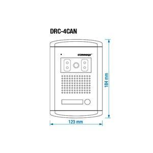 DRC-4CAN, Commax dveřní kamerová jednotka s 1 tlačítkem - 2