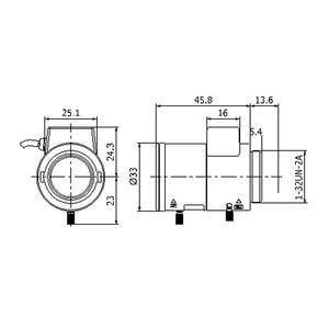 TV0309D-IR - objektiv 3 - 9mm s aut. clonou s IR korekcí - 2