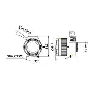 TV2712D-MPIR - MEGAPIXEL objektiv 2,7-12mm s aut. clonou a IR korekcí - 2