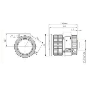 HV3816P-8MPIR - P-Iris objektiv 3,8-16mm pro 4K kamery s aut. clonou s IR korekcí - 2