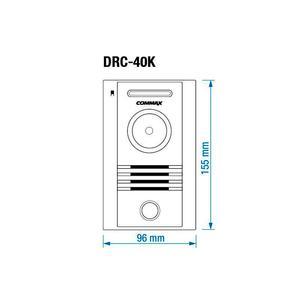 """CDV-43M bílý/DRC-40K, sada 4.3"""" handsfree videotelefonu a kovové dveřní stanice, Commax - 2"""