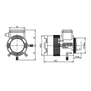 TV0309D-MPIR - MEGAPIXEL objektiv 3-9mm 1/2,7, aut. clona a IR korekce - 2