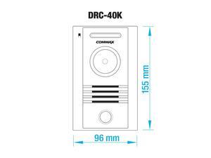 DRC-40K, Commax barevná dveřní kamerová jednotka s 1 tlačítkem - 2