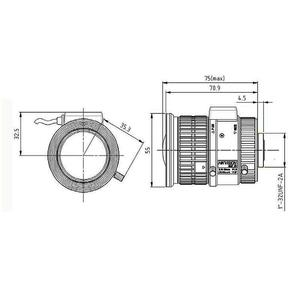 HV3816D-8MPIR - objektiv 3,8-16mm pro 4K kamery s aut. clonou s IR korekcí - 2