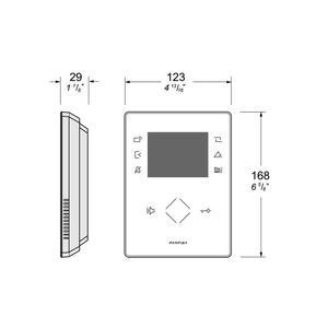 ZH1262W, ZHero handsfree bílý videotelefon - 2