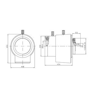 "V13VD358, 1/3"" megapixelový varifokální CS objektiv f3.5-8mm @ F1.4, DC Auto, Evetar - 2"