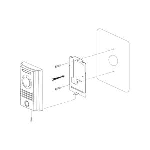 DRC-40K - dveřní stanice s kamerou, 1 tlač., CVBS - 3