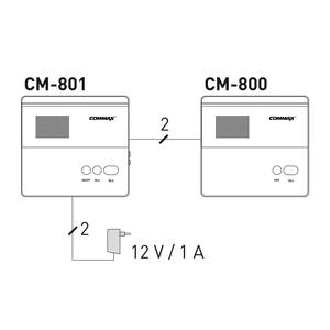CM-801 - dvouvodičový interkom (master) - 3