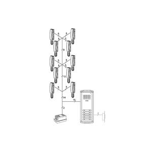 DR-10AM/DP-SS/RF-1A - sada dom. telefonů pro 10 uživ., systém 4+n - 3