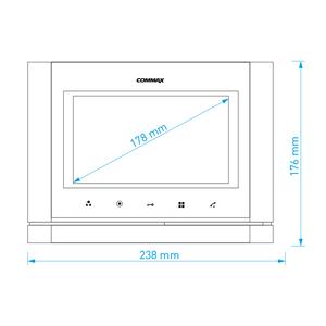 """CDV-70M bílý - verze 230Vac - videotelefon 7"""", CVBS, handsfree, 2 vst. - 3"""