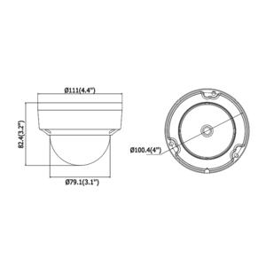 DS-2CD2183G0-I - (2.8mm) - 8MPix, IP dome kamera; 2,8mm; WDR; EXIR 30m; H265+ - 3