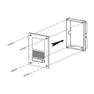 DRC-41UNHD - dveřní stanice s kam., 1 tlač., HD ready - 3
