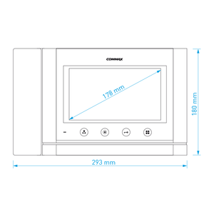 """CDV-70MHD bílý - verze 17-30Vdc - videotelefon 7"""", CVBS, se sluch., 2 vst. - 3"""