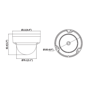 DS-2CD2145FWD-I - (BLACK)(4mm) - 4Mpx, IP dome kamera, f4mm, WDR, EXIR 30m, H265+, černá - 3