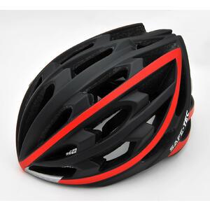 TYR  Black red XL - chytrá helma na kolo - 3