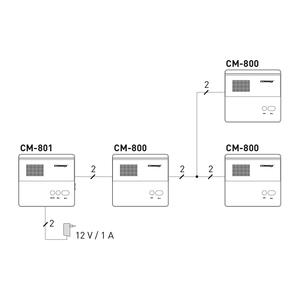 CM-801 - dvouvodičový interkom (master) - 4