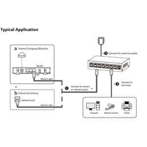 DS-3E0105D-E - switch 5 porty 10/100Mbps, bez PoE, plastový - 4