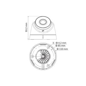 DS-2CD1323G0E-I - (2.8mm) - 2 Mpx, IP dome kamera, f2.8mm, DWDR, EXIR 30m, H265+ - 6