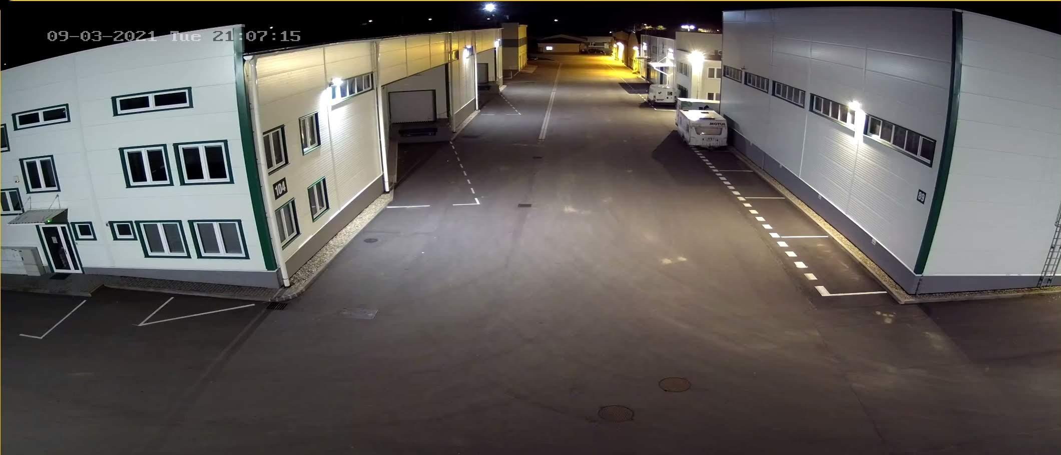 Noční záběr z kamery