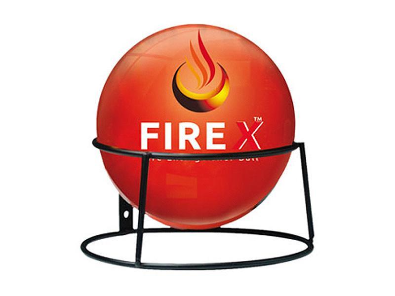 Fire X, automatický hasicí přístroj ve tvaru míče pro hašení chemikáliemi do 3-5 sekund, Firetech