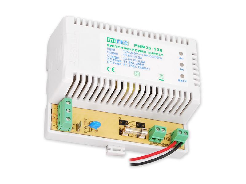 PS-DIN-13V2A18Ah, pomocný zdroj