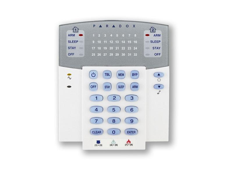 K32RF-433/868, bezdrátová LED klávesnice - 32 zón