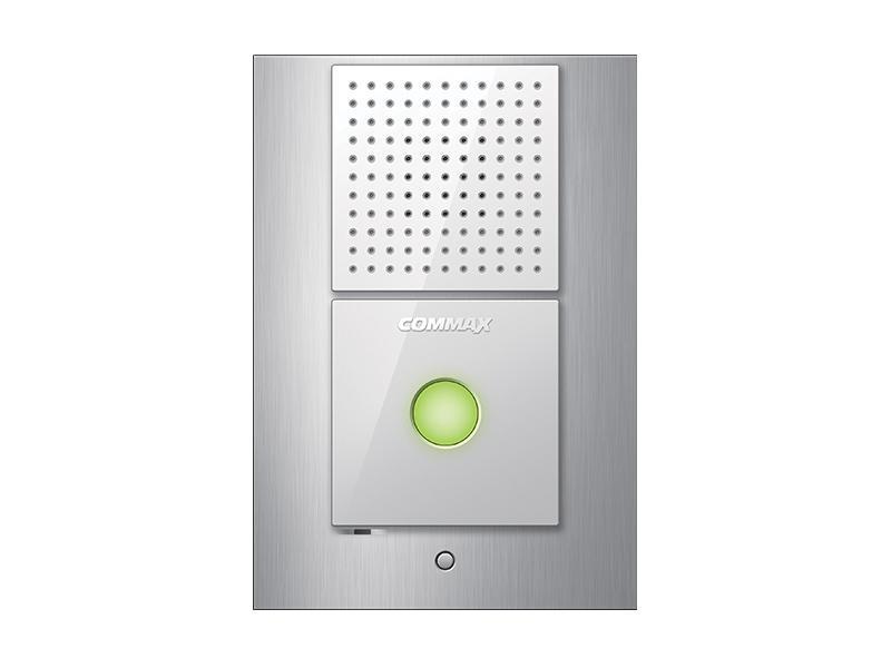 DR-2L, jednotlačítková dveřní audio stanice pro systém domácích telefonů 1+n, Commax